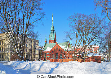 Helsinki. German church - Helsinki. The German church in...