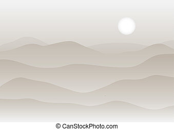 Fog in the mountains  - Landscape with mountains and fog