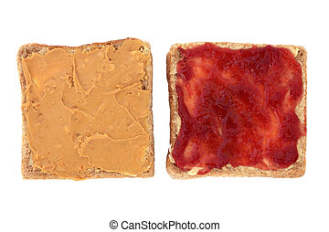 Peanut Butter and Jelly - Peanut butter and raspberry jam...