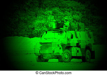 Military night vision - Night vision watching at a military...