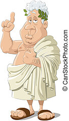 Philosopher - Illustration of the Ancient Greek philosopher