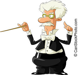 Conductor on a white background, vector illustration