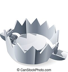 Trap on a white background, vector illustration