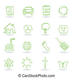 Eco and environment objects - Eco and clean environment...