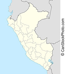 Peru Map - Illustration of Peru map showing the state...