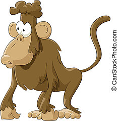 Marmoset - Monkey on a white background, vector illustration