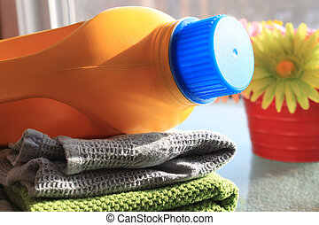 Laundry and detergent bottle - Bottle of laundry detergent...