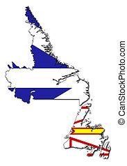 Newfoundland and Labrador - National flag of Newfoundland...