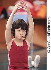 Asian kid dancing