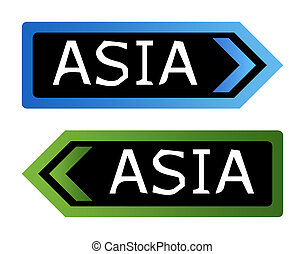 Asia road signs