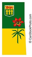 Saskatchewan map flag