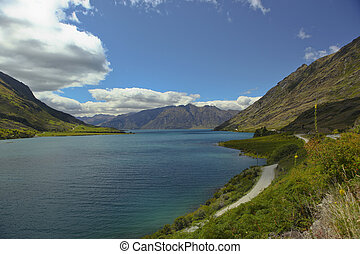 Lake Hawea New Zealand - A view of Lake Hawea on the south...