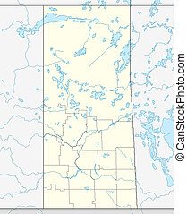Saskatchewan map - Illustrated map of Canadian or Canada...