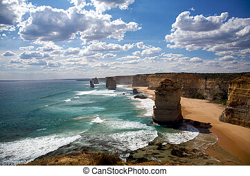 Twelve Apostles in Melbourne - Scene of Twelve Apostles in...