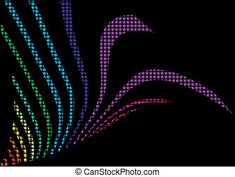 Colorful dotted background