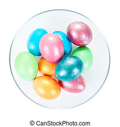 Ester eggs Isolated over white with clipping path