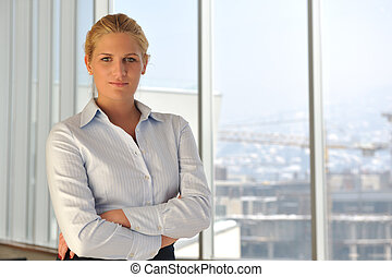 young business woman on meeting - happy young business woman...