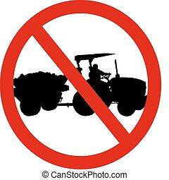 No tractor