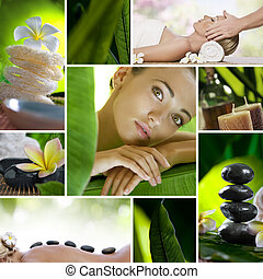 mix - Spa theme photo collage composed of different images
