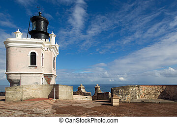 Old San Juan - Puerto Rico - Lighthouse of El Morro Fort,...