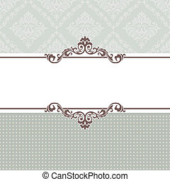 vintage frame - abstract vintage frame vector illustration