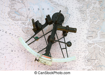 Sextant on a Chart