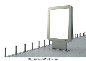 Citylight - Blank outdoor advertising sign. 3D render.