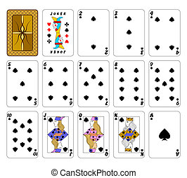 Cards playing.Peaks. - Part of the complete set of playing...