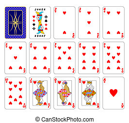 Cards playing.Hearts. - Part of the complete set of playing...