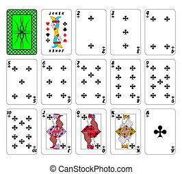 Cards playing - Part of the complete set of playing cards