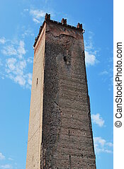 Medieval tower located in Castelleone, Cremona, Italy