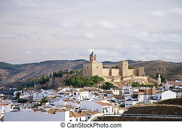 castle of Antequera - Antequera city at Andalucia in Spain