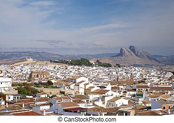 Lovers Mountain at Antequera - Antequera city at Andalucia...