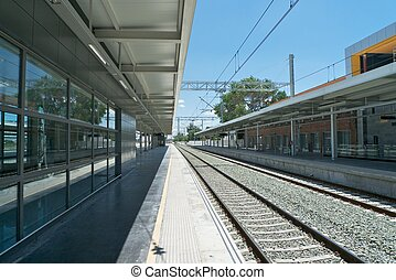 railway station of Albacete city in Castilla Spain