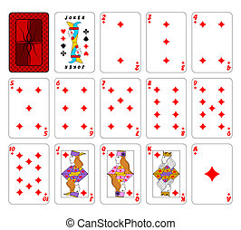 Cards playingDiamonds - Part of the complete set of playing...