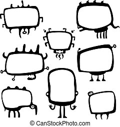 funny frame monsters - Collection of cartoon funny frame...
