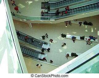 Modern Shopping - Shopping in a modern shopping mall