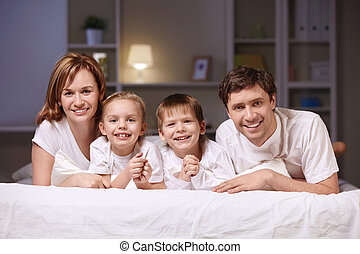 Evening - Families with children at home in the evening