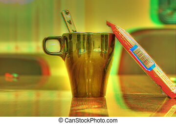 Diabetic Junction 3D - Coffee mug and candy bar Adobe 1998...