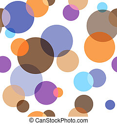 Abstract seamless pattern with chaotic balls (vector, EPS...