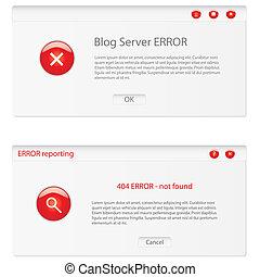 customizable error window