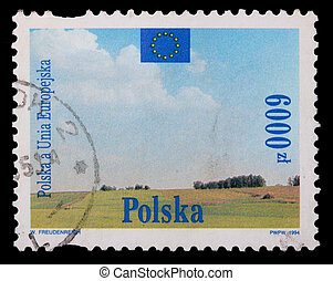 Poland - CIRCA 1994: A stamp - Polska the European Union