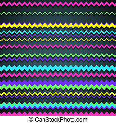 Zigzag Background - Colorful abstract background made of...