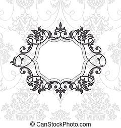 vintage frame - abstract vintage frame vector illustration