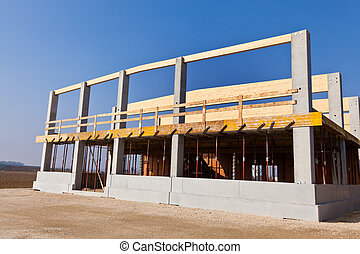 Construction site for commercial - A building for warehouse...
