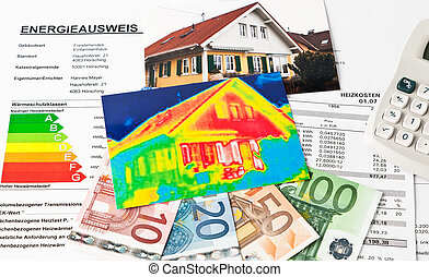 Save energy House with thermal imaging camera - Saving...