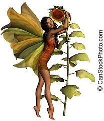 Dark Sunflower Fairy