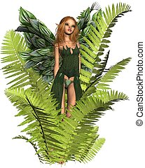 Fairy in the Ferns