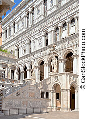 Court Of The Doges Palace in Venice - Italy, Venice, Court...