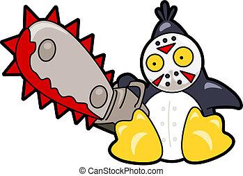 Skrämmande, pingvin